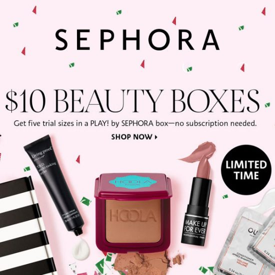 $10 Beauty Boxes with 5 Trial-Size Samples Plus a Beauty