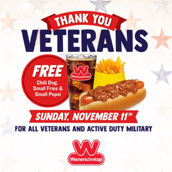 FREE Meal for Veterans & Active Military (11/11)