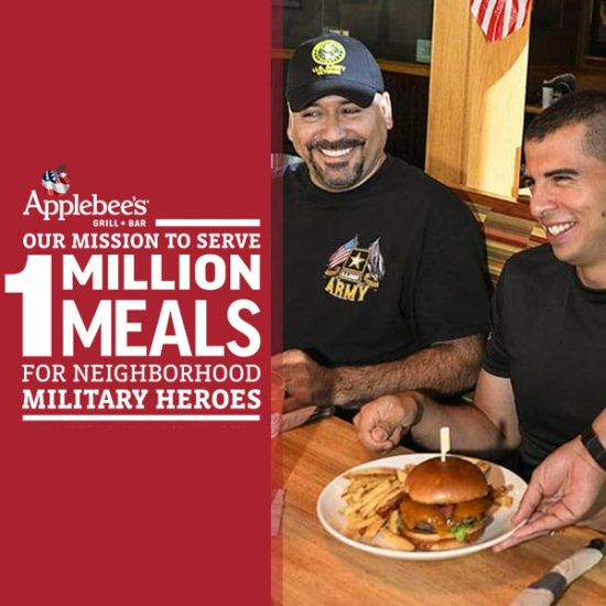 FREE Meal for Vets & Active Military (11/11)