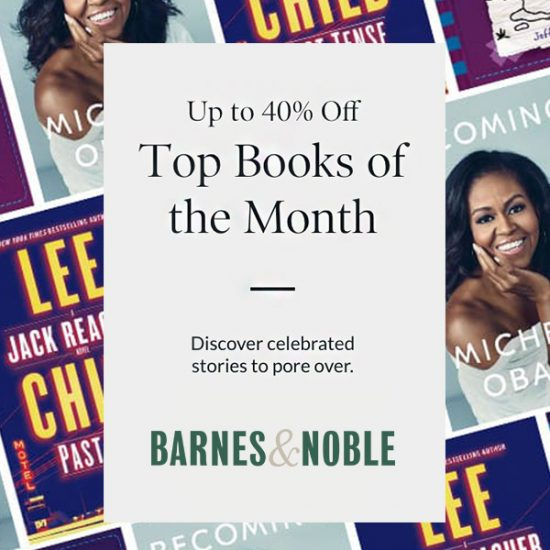 Up to 40% Off Top Books of the Month