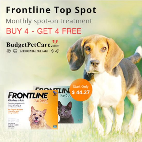 Buy 4, Get 4 FREE Frontline Top Spot for Dogs