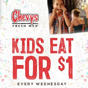 Kids Eat for $1 Every Wednesday w/ Adult Entrée Purchase