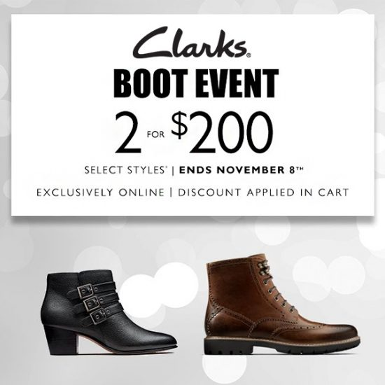 Clarks Boot Event: 2 for $200
