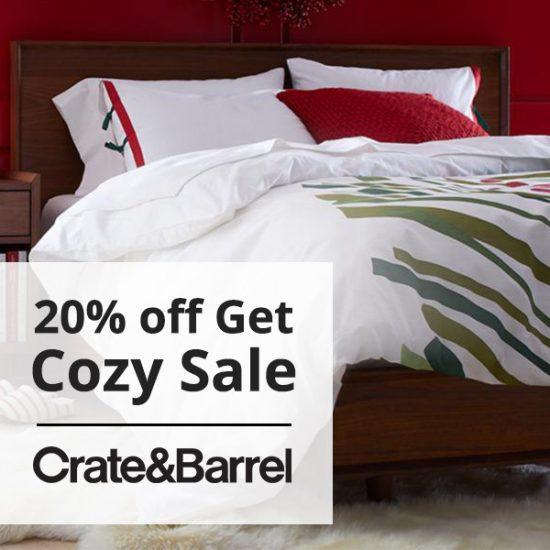 20% Off Get Cozy Sale