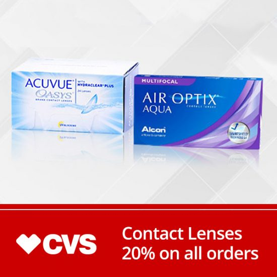 20% Off Contact Lenses + FREE Shipping on $49+ Purchase