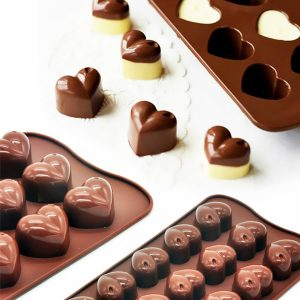 60% Off Non-Stick Silicone Heart-Shaped Chocolate Molds
