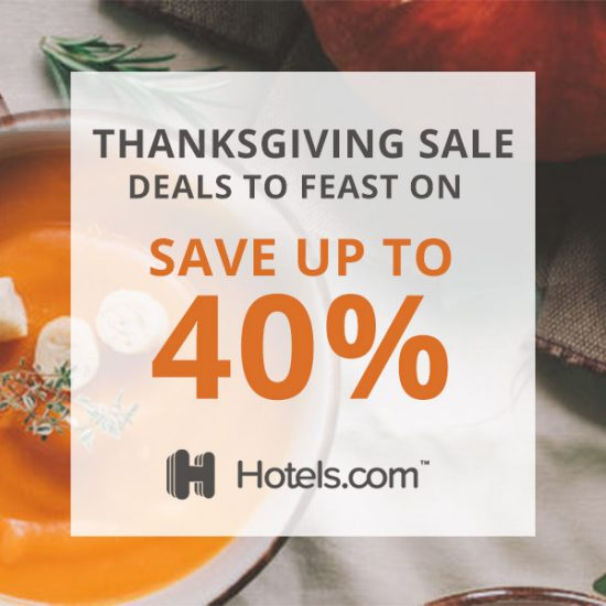 Thanksgiving Sale: Enjoy Up to 40% on Your Booking