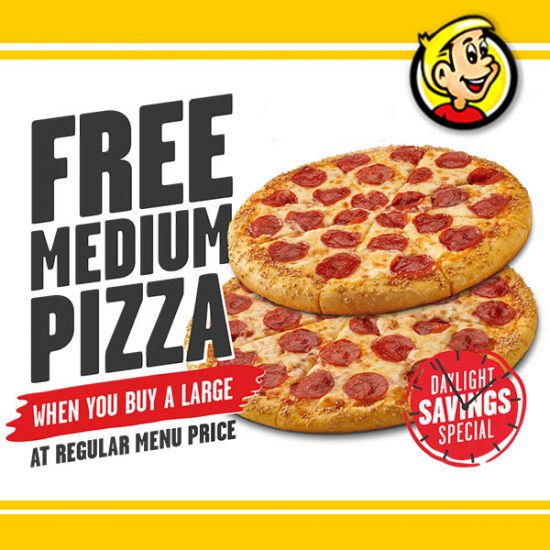FREE Medium Pizza w/ Purchase + FREE 3 Cheeser Howie Bread w/ Sign-Up