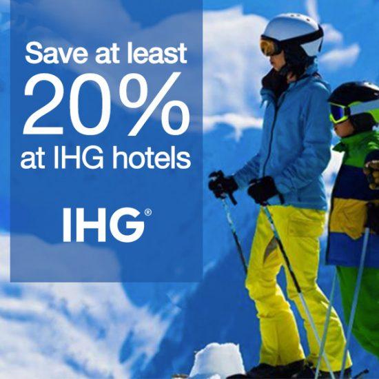 Save 20% at IHG Hotels