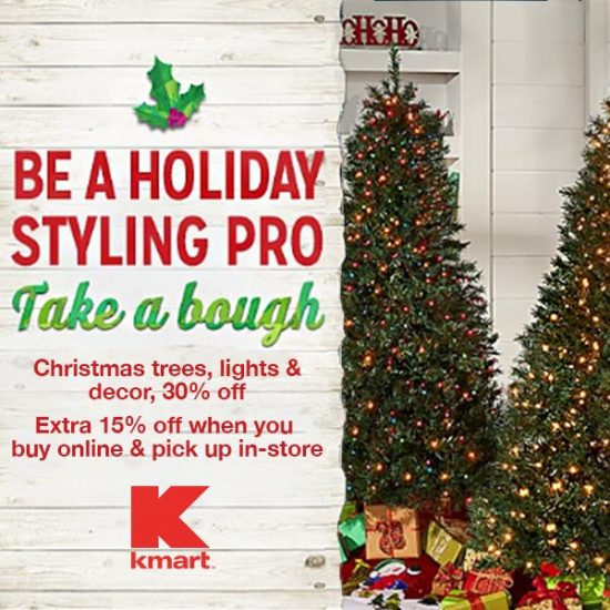 30% Off Christmas Trees, Lights & Décor + Extra 15% Off