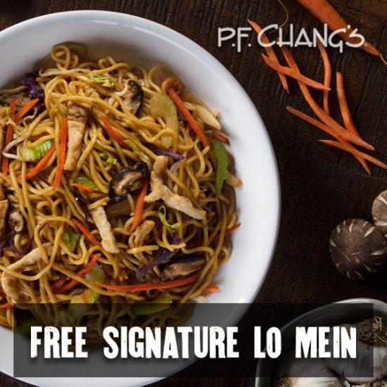 FREE Signature Lo Mein w/ Entrée Purchase