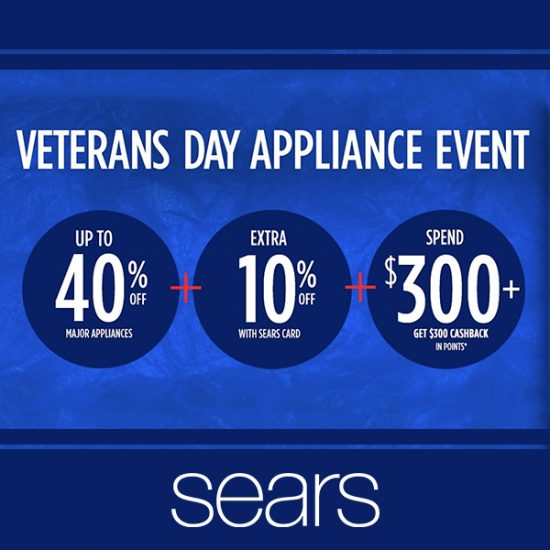 Veterans Day Appliance Event: Up to 40% Off + Extra 10% Off & More