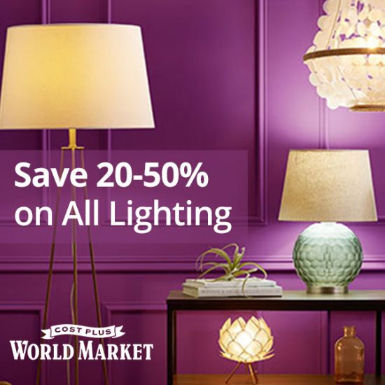 Up to 50% Off on ALL Lighting