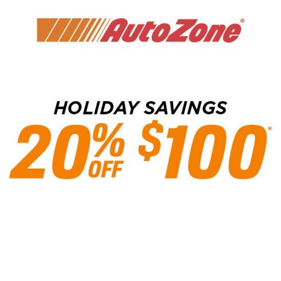 Holiday Savings: 20% Off $100
