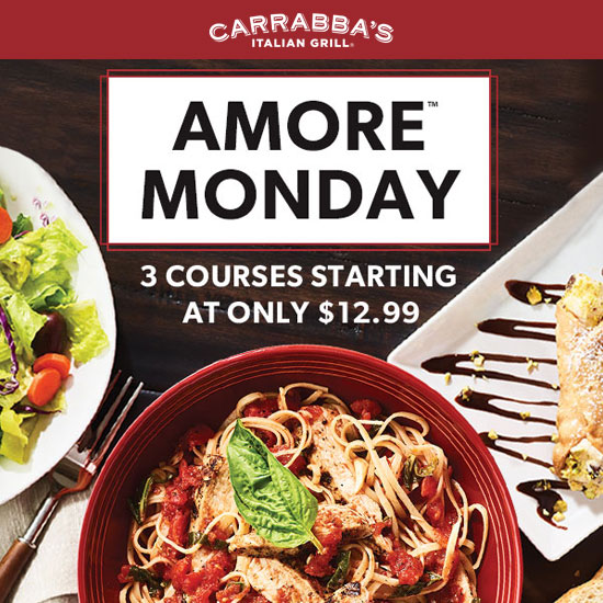 Every Monday: 3-Course Italian Meals Starting at $12.99