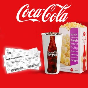 FREE AMC Ticket + Large Popcorn & Drink w/ Coke Codes