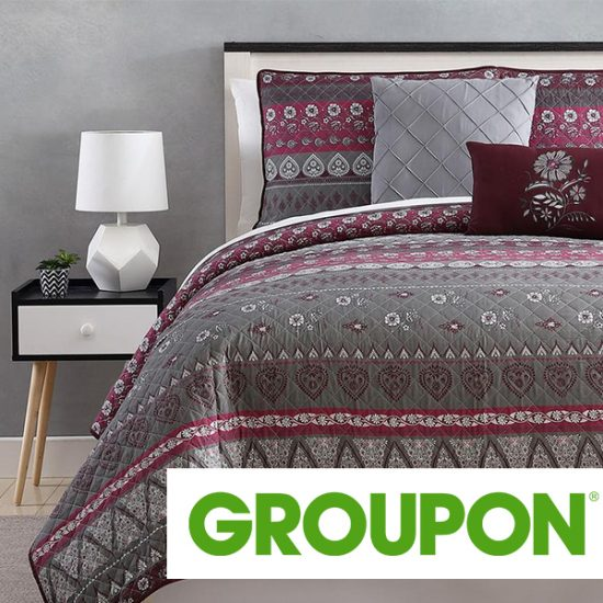 LIMITED TIME REMAINING: Up to 62% Off Printed Reversible Quilt Set