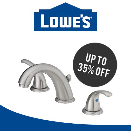 Up to 35% Off Select Bath Faucets