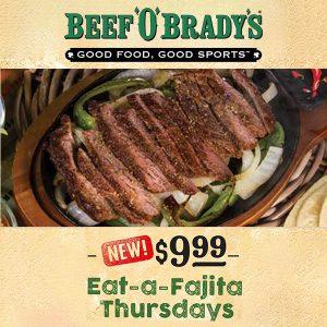 Every Thursday: Fajitas for Just $9.99