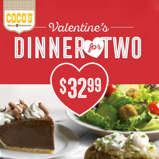 Valentine's Dinner for Two for $32.99