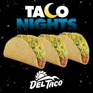 3 Tacos for $1.49 on Tuesday Nights and $2.49 on Thursday Nights