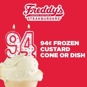 94¢ Frozen Custard Cone or Dish