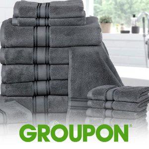 Up To 78% Off 100% Cotton Zero-Twist Towel Set