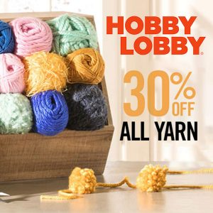 30% Off All Yarn In Store or Online