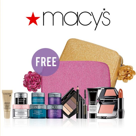 FREE Customizable 7-Piece Beauty Gift w/ Any $37.50 Lancome Purchase