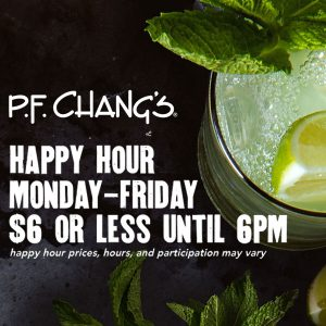 Happy Hour: $6 or Less