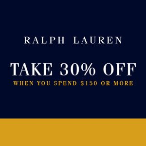 30% Off Purchases Worth $150 or More w/ Code