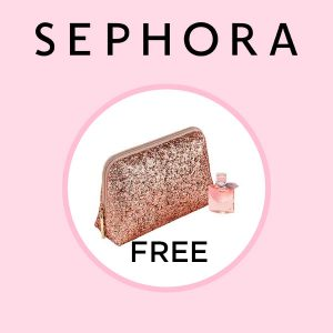 Free Lancome Pink Sparkly Pouch With Select Lancome Fragrance Purchase