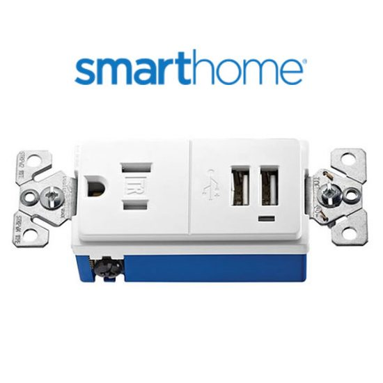 57% Off Cooper Wiring USB Charger with Tamper Resistant Receptacle – White