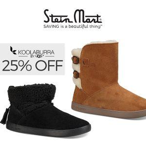 25% Off Original Price On Select Koolaburra by UGG Styles