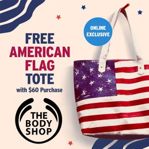 Free American Flag Tote w/ $60 Purchase