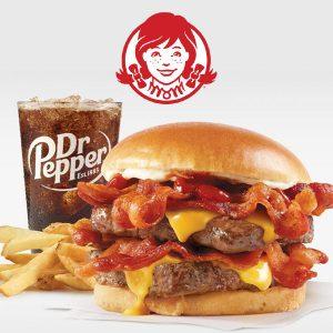 Free Small Fry & Drink w/ Premium Hamburger