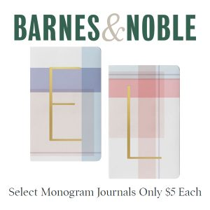 $5 Each on Select Monogrammed Journals