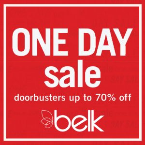 ONE DAY SALE: Doorbusters Up to 70% Off