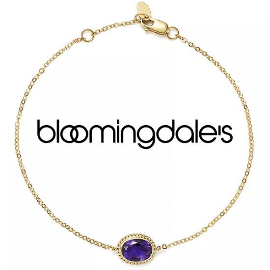 50% Off 100% Exclusive Bloomingdale's Amethyst Oval Bracelet in 14K Yellow Gold
