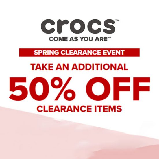 Additional 50% Off Clearance Sale