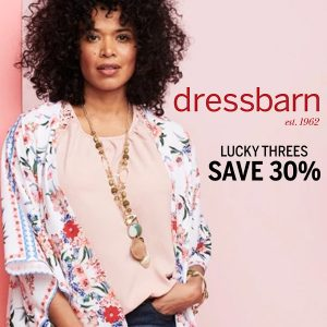 30% Off 3+ Full-Price Tops