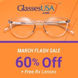 60% Off Flash Sale + FREE Rx Lenses