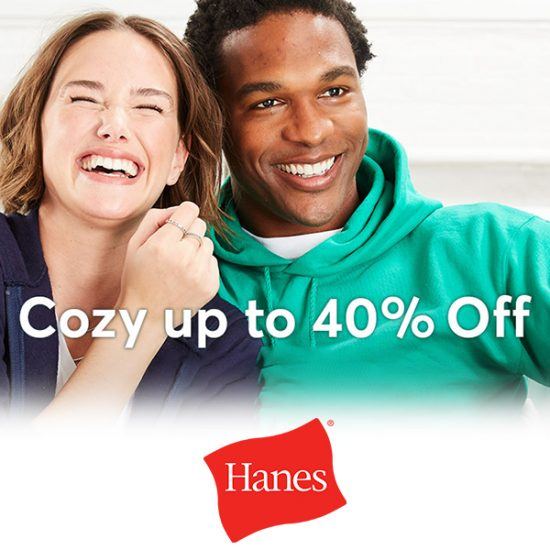 40% Off Sweats, Tees and Polos