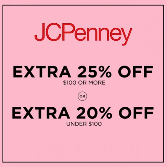 Extra 25% Off $100 or More or Extra 20% Off Under $100 Purchases
