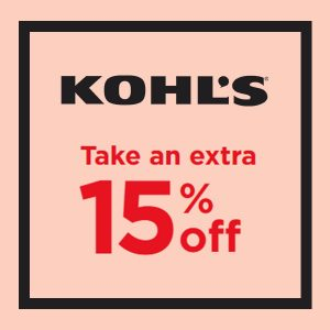 Extra 15% Off w/ Code + Get $10 Kohl's Cash for Every $50 Spent During Sale