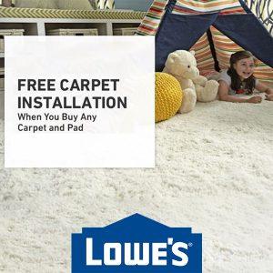 Free Carpet Installation w/ Qualifying Carpet & Pad Purchase