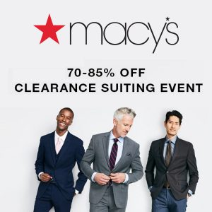 Up to 85% Off Men's Suits
