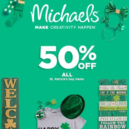 50% Off St. Patrick's Day Items