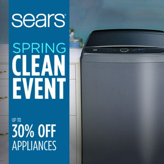 Up to 30% Off Appliances in Spring Clean Event