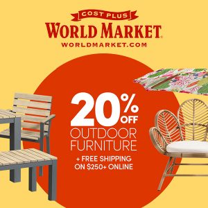 20% Off Outdoor Furniture + FREE Shipping on $250+ Online w/ Code